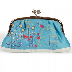 Blue Poppy Silk Purse