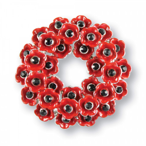 Poppy Wreath Brooch