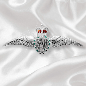 RAF Wings Sterling Silver Sweetheart Brooch