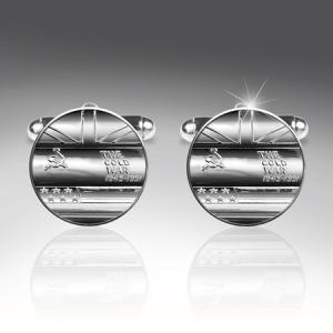 Cold War Silver Plated Cufflinks