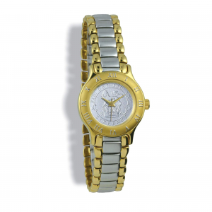 Summit Coinwatch, Ladies, Gold Case, 2-Toned Bracelet, Silver Coin