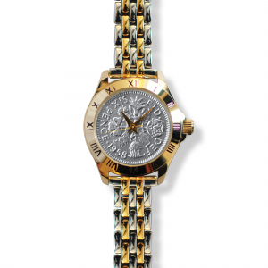 Tanner Watch With Silver Coin & Bracelet