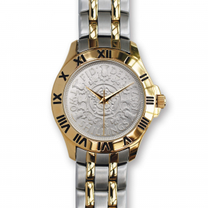 Two-Bob Watch With Silver Coin & Two-Toned Bracelet
