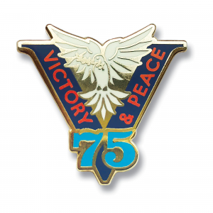 Victory & Peace 75 Lapel Badge