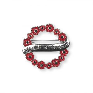 We Will Remember Them Brooch