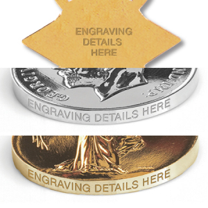 Pip, Squeak & Wilfred 3 Medal Edge Engraving
