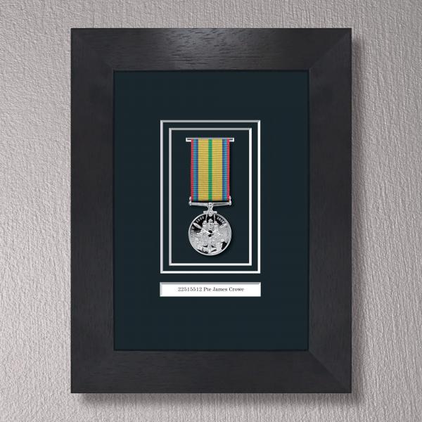 Black Stain Medal Frame for 1 Medal