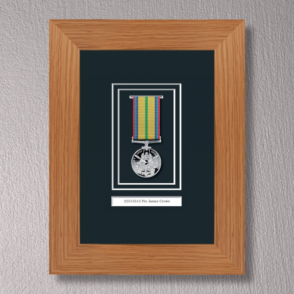 Light Oak Medal Frame for 1 Medal