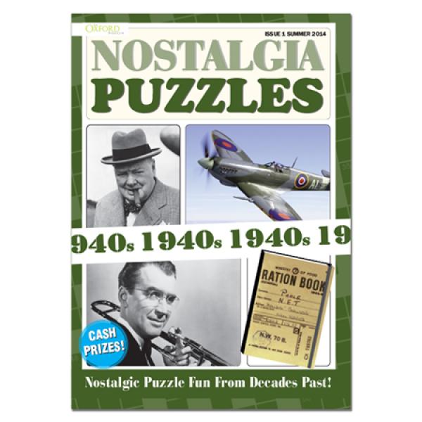 1940s Nostalgia Puzzle Book