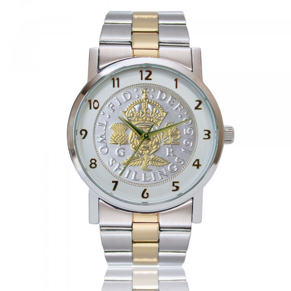 The Birthday & Anniversary Watch With Genuine Florin & Two-Toned Bracelet