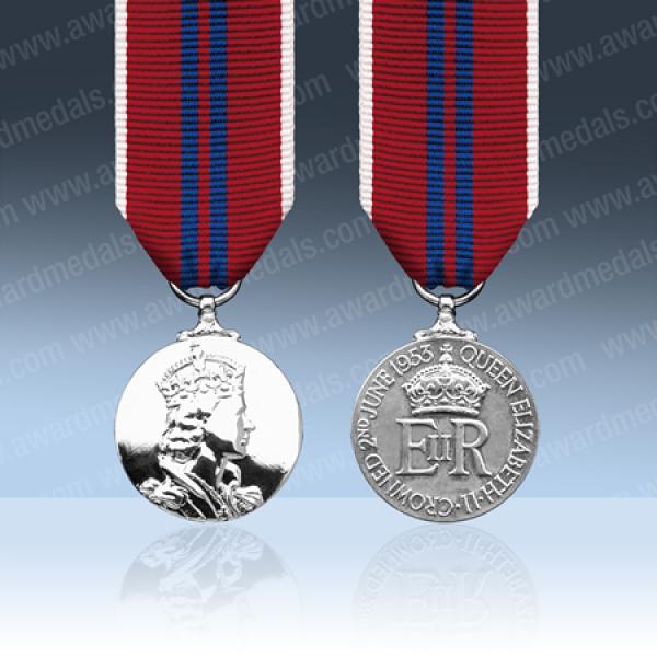 Queens 1953 Coronation Miniature Medal