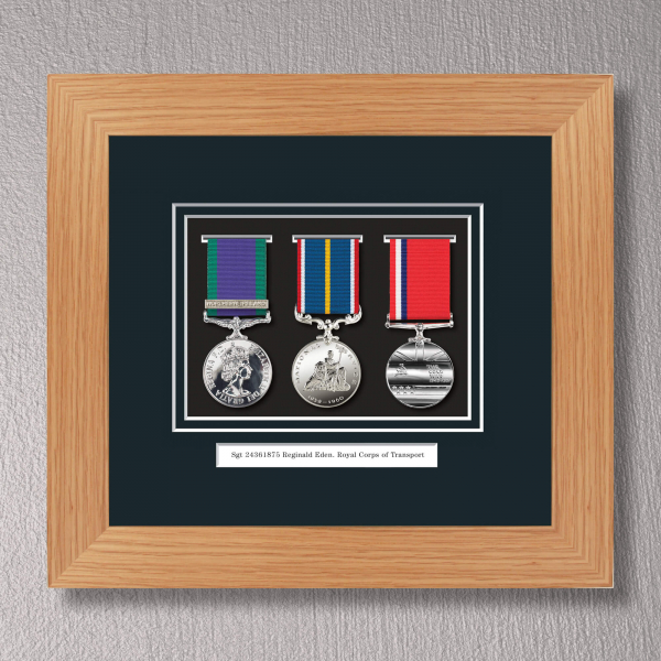 Light Oak Medal Frame for 3 Medals
