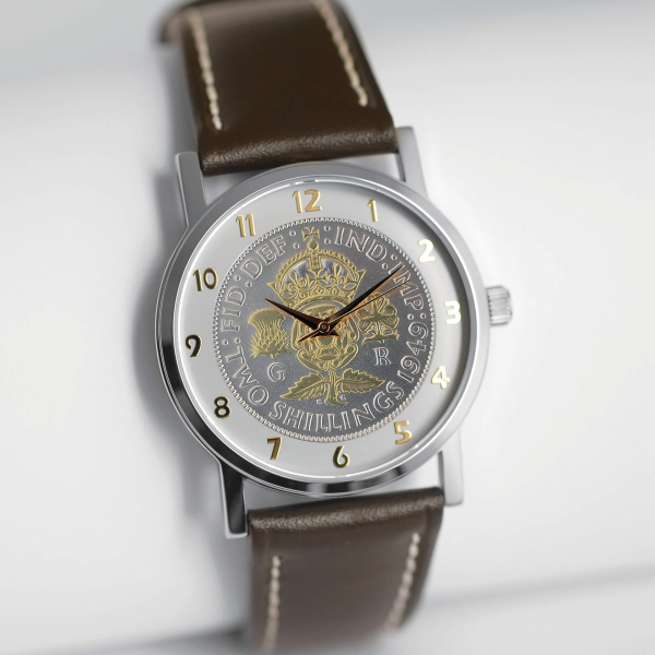 1950 Two-toned Florin With Leather Strap