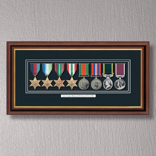 Mahogany & Gilt Medal Frame for 8 Medals