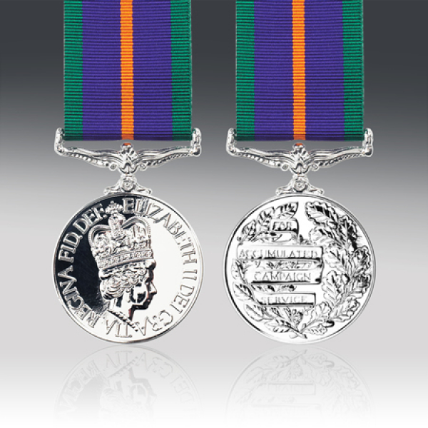 Miniature Accumulated Campaign Service Medal