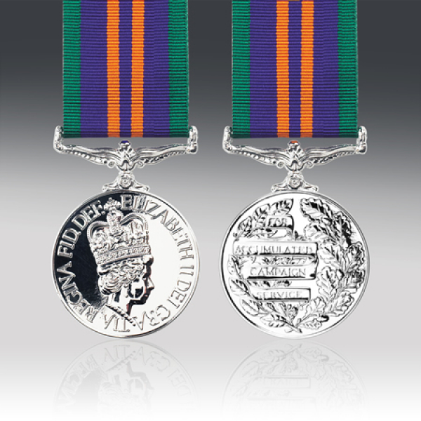 Accumulated Campaign Service Miniature Medal 2011