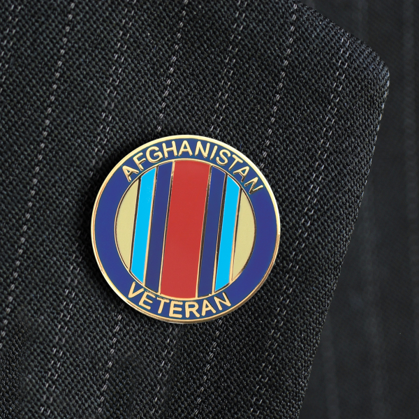 Afghanistan Veterans Lapel Badge