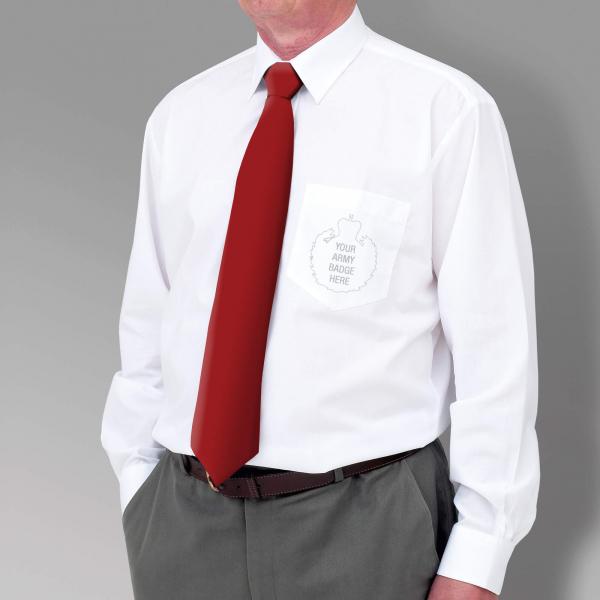 White Military Long Sleeve Shirt
