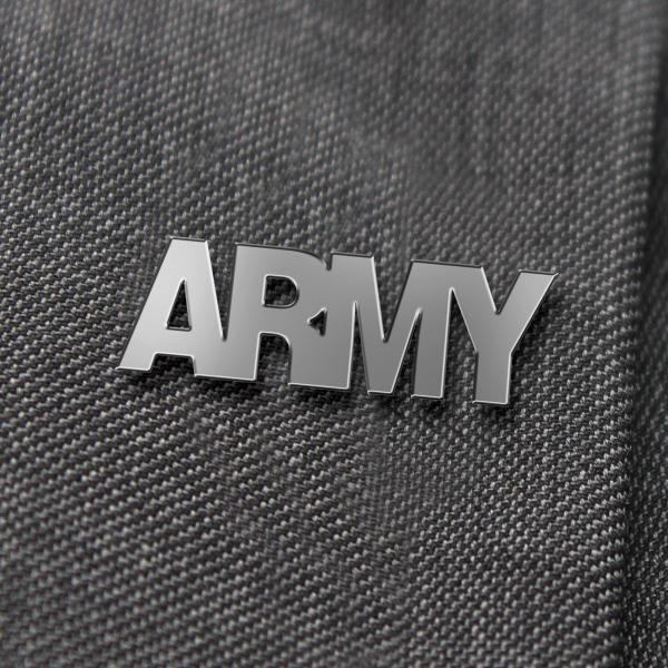 Army Nickel Lapel Badge