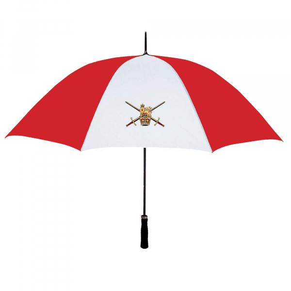 Red & White Personalised Umbrella