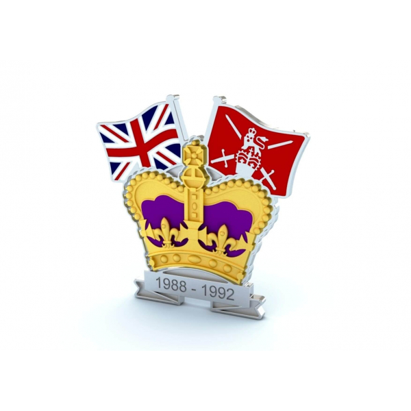 Crown & Country Lapel Badge British Army
