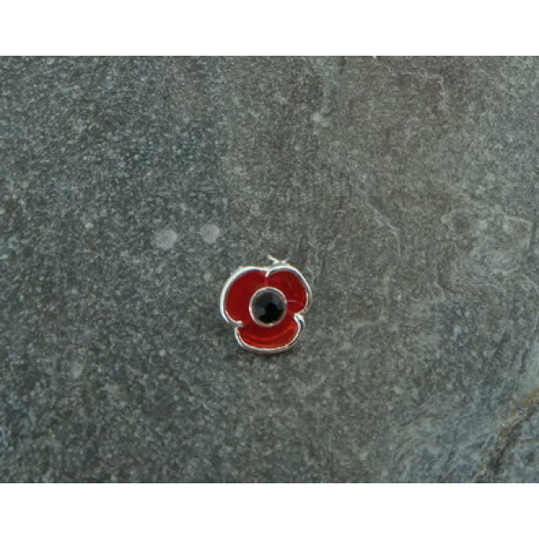 Poppy Lapel Pin (Silver Finish)