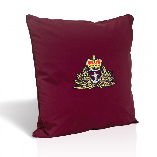 Burgundy Embroidered Cushion