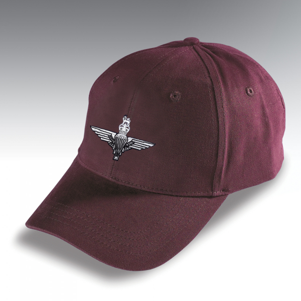 Embroidered Burgundy Baseball Hat