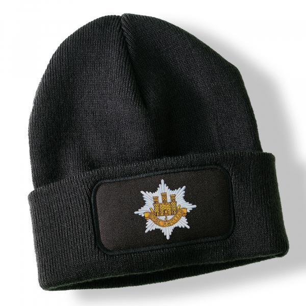 Royal Anglian Regt Black Acrylic Beanie Hat