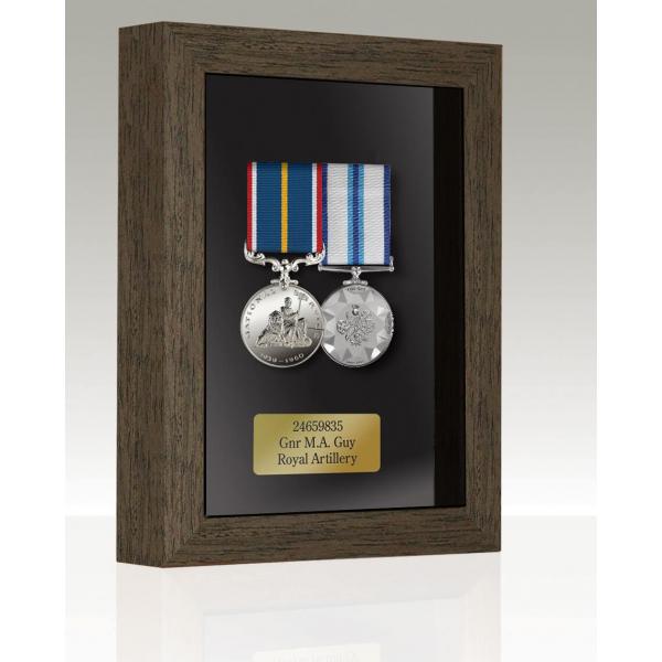 Medal Box Dark Oak For 2-3 Medals