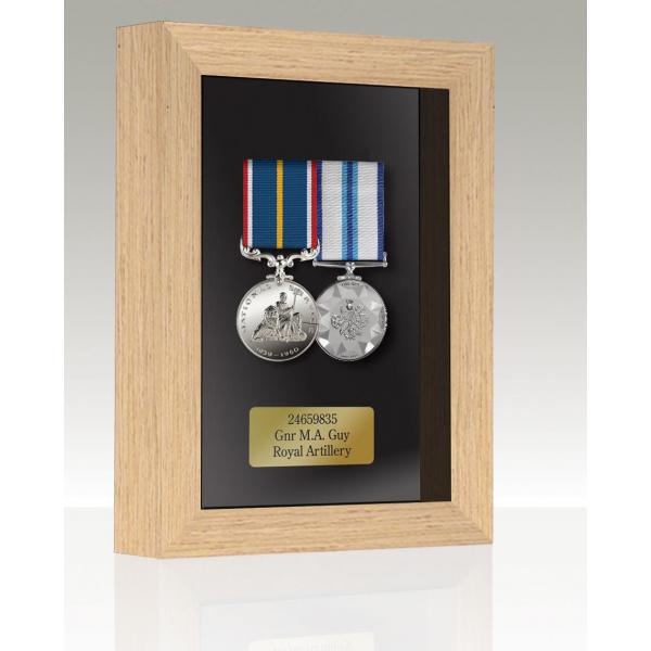 Medal Box Light Oak For 2-3 Medals