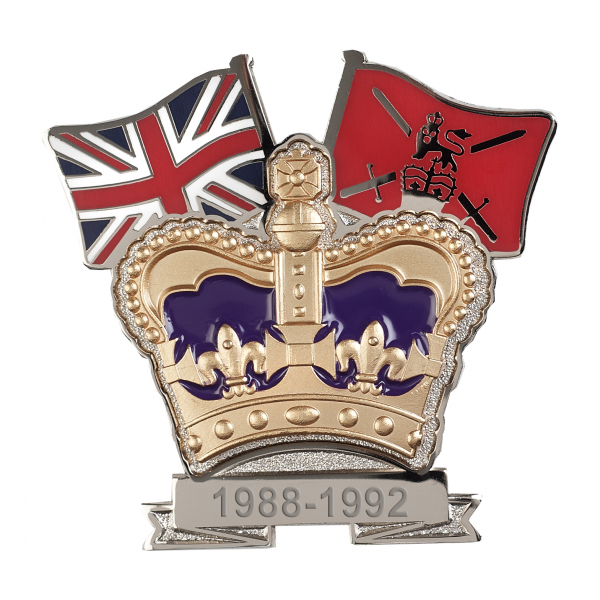 British Army Crown & Country Lapel Badge