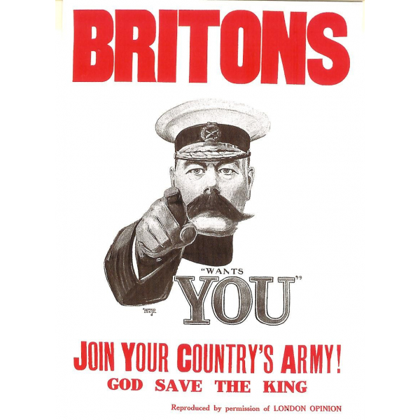 Britons! Join Your Country's Army Postcard