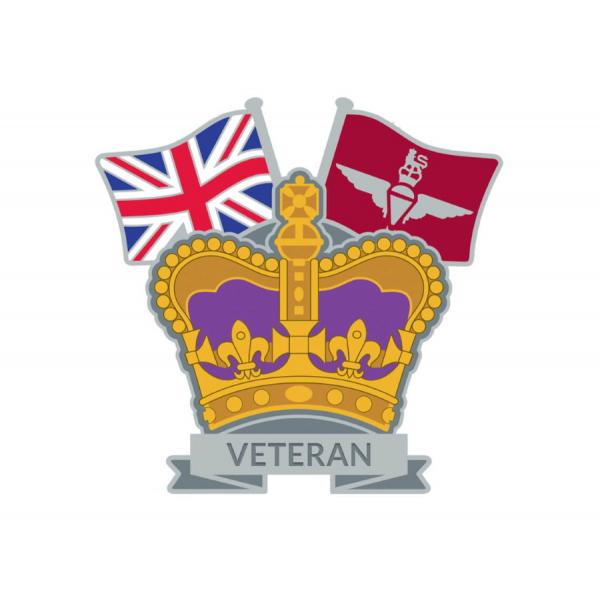 Crown & Country Lapel Badge Parachute Regiment