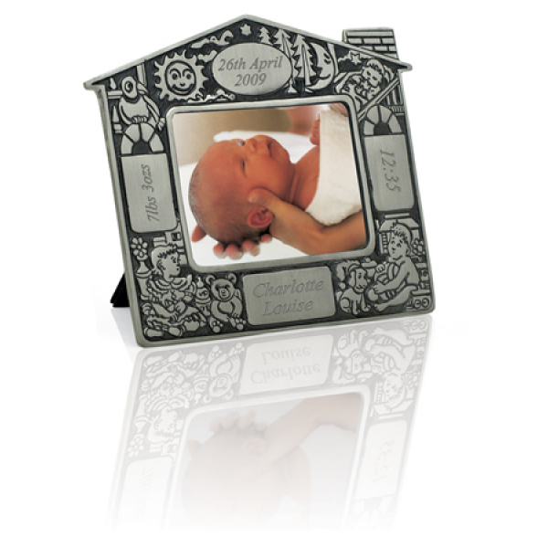 Engraved Christening Picture Frame