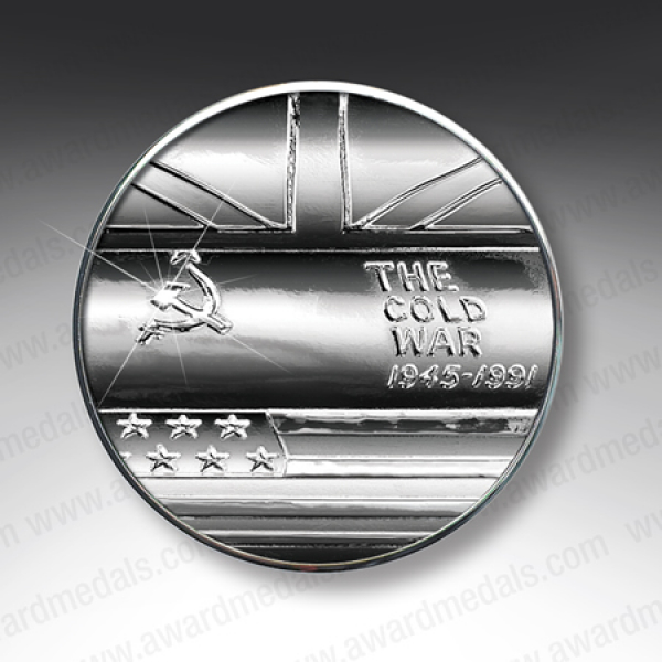 Cold War Silver Plated Lapel Pin