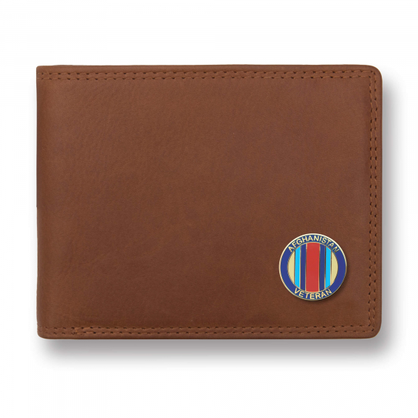 Personalised Compact Tan  Leather Wallet