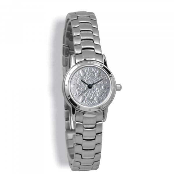 Contemporary Ladies, Silver Case, Silver Bracelet, Silver Coin