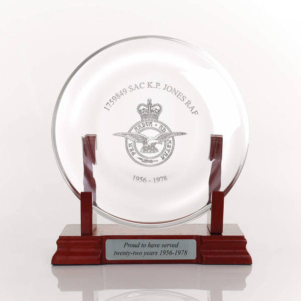 Personalised Crystal Award Plate