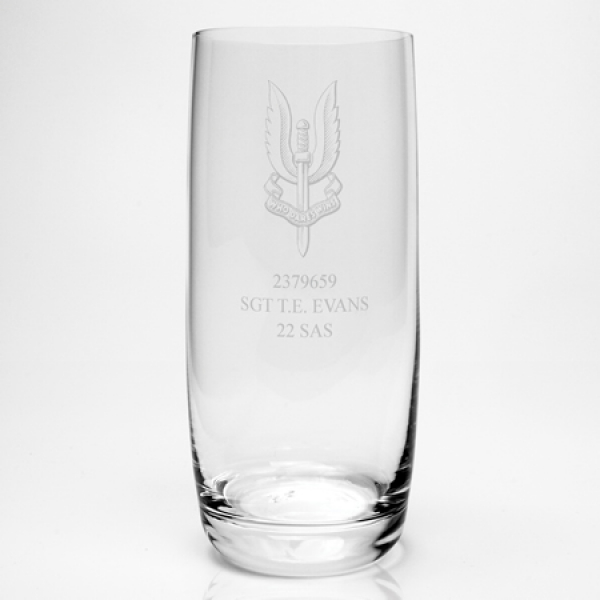 Engraved Dartington Hi-Ball Tumbler