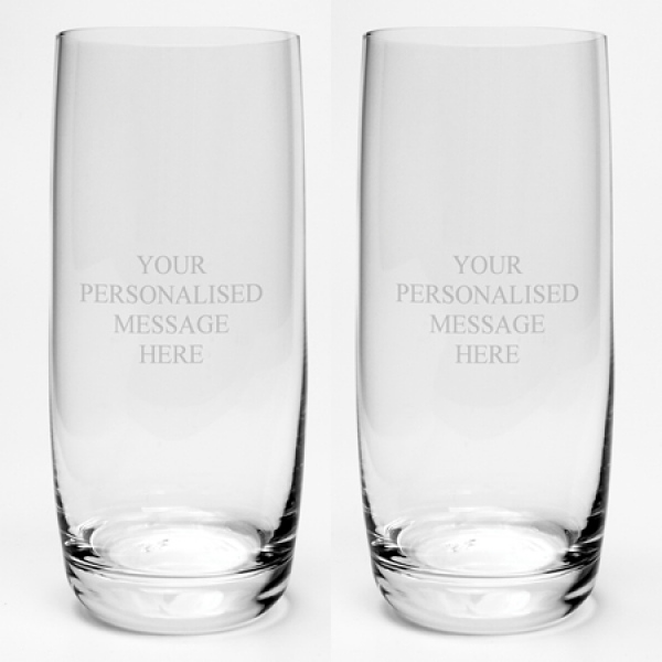 Engraved Dartington Hi-Ball Tumbler Pair with Gift Box