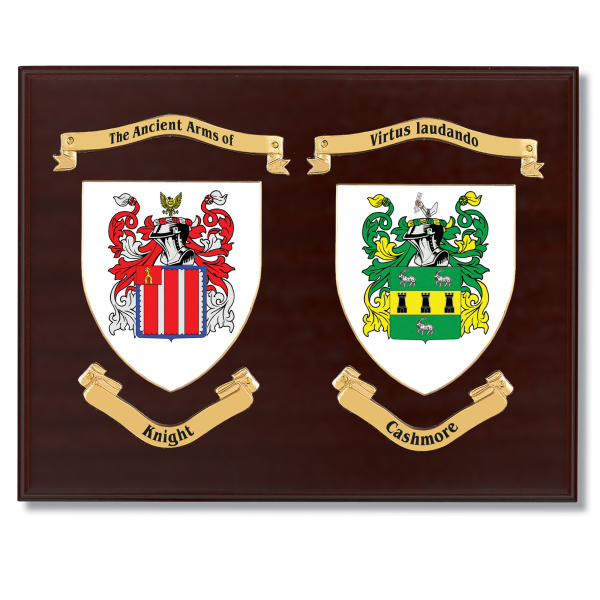 Double Family Crest Shield