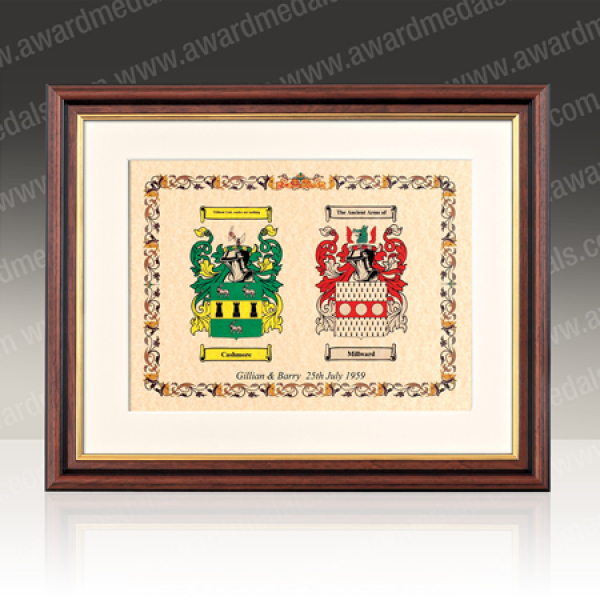 Double Family Crest with Frame