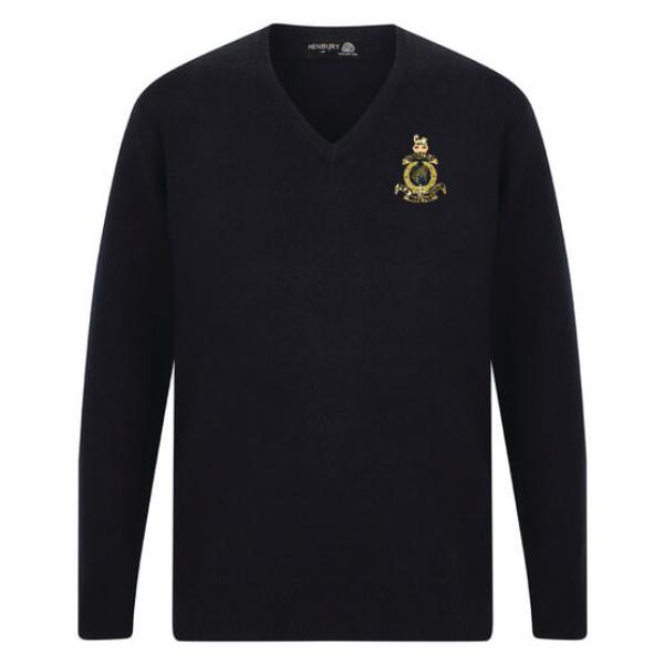 Navy Blue V-Neck Sweater