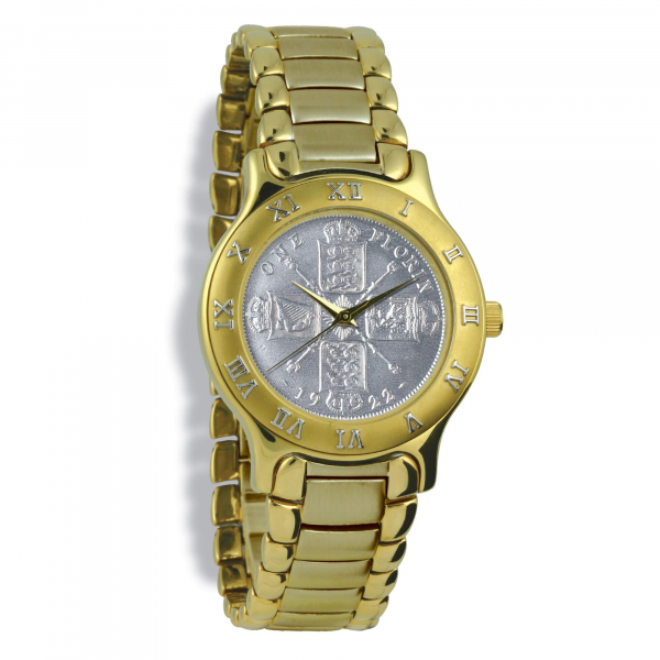 Summit Gents, Gold Case, Gold Bracelet, Silver Coin