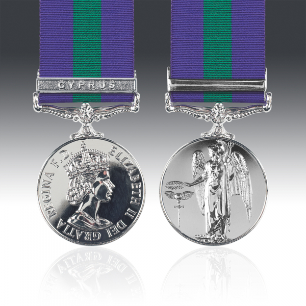 General Service Medal 1918-62 E.II.R & Cyprus Clasp