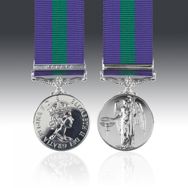 GSM Miniature 1918-62 E.II.R with Malaya Clasp