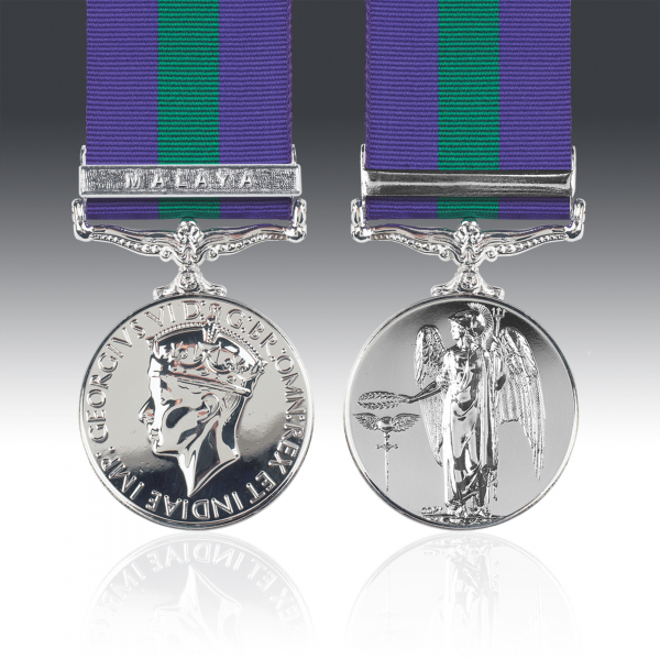 General Service Medal 1918-62 G.VI.R & Malaya Clasp