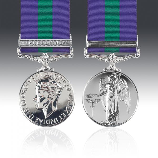 General Service Medal 1918-62 G.VI.R & Palestine Pre-War Clasp