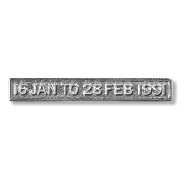 Gulf 16 Jan - 28 Feb 1991 Miniature Clasp